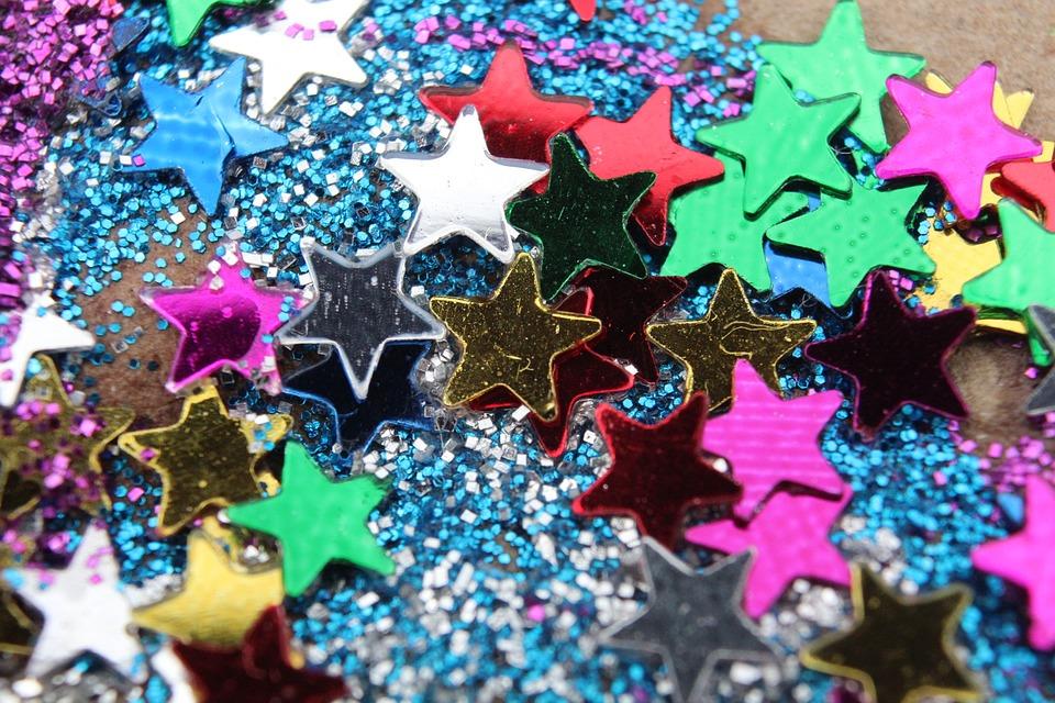 Colours Stars Glitter Shine Sparkle