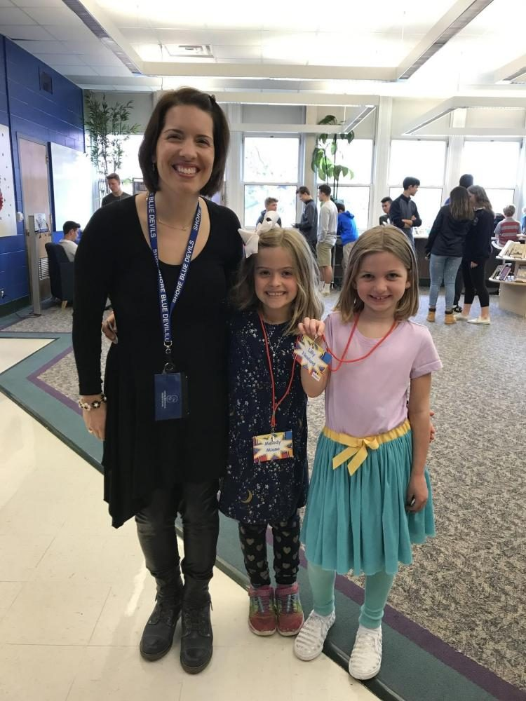 Mrs. Miano celebrates Bring Your Child to Work Day! this past Thursday.